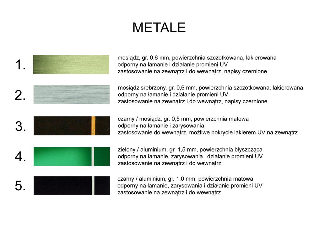 Wzornik materiałów grawerskich