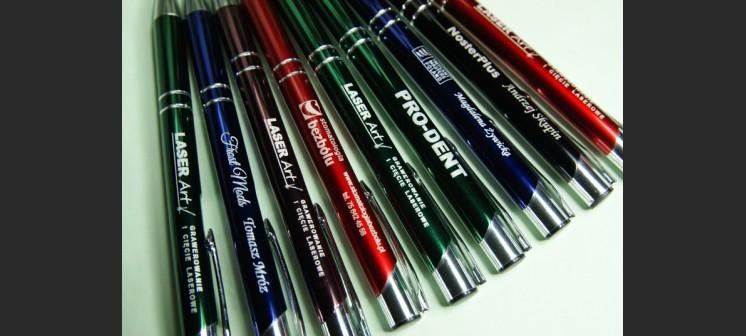 Długopis reklamowy metalowy grawerowany