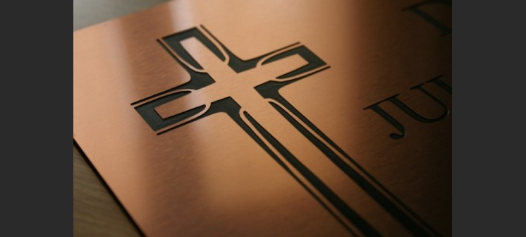 Tablica nagrobna tabliczka cmentarna z laminatu